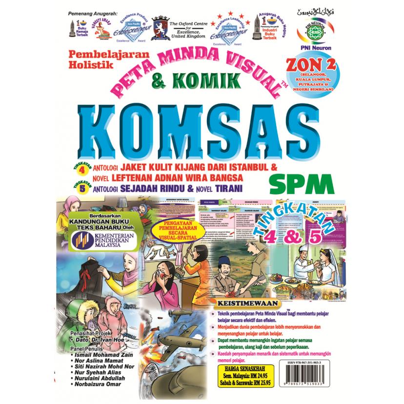 PEMBELAJARAN HOLISTIK PMV KOMSAS  SPM   TING 4 & 5  (ZONE 2)