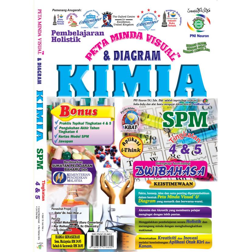 PEMBELAJARAN HOLISTIK PETA MINDA VISUAL& DIAGRAM KIMIA  SPM  TINGKATAN 4 & 5 (DWIBAHASA)