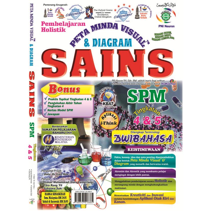 PEMBELAJARAN HOLISTIK PETA MINDA VISUAL & DIAGRAM SAINS SPM TINGKATAN 4 & 5 (DWIBAHASA) - NEW
