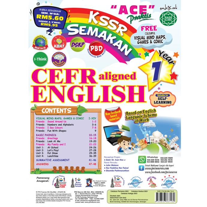Ace Praktis KSSR Semakan CEFR Aligned English Year 1