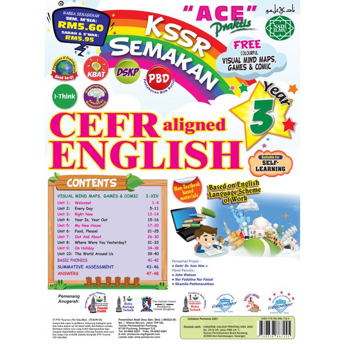 Ace Praktis KSSR Semakan CEFR Aligned English Year 3